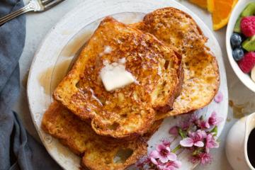 Receta de tostada francesa
