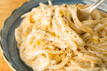 Espaguetis a la crema