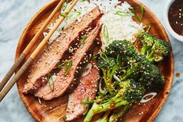 Carne asada con brócoli