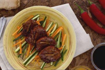 Lomo de cerdo con miel y jengibre