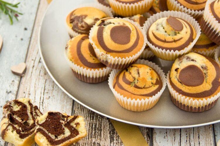 Muffins de cebra