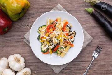 Pasta con verduras a la parrilla