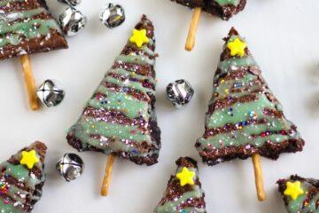 Brownies de árbol de Navidad