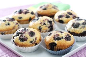 Muffins de bayas para el desayuno