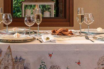 Cena elegante de Navidad