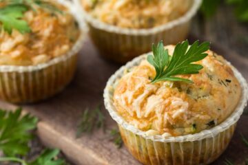 Muffins salados de salmón